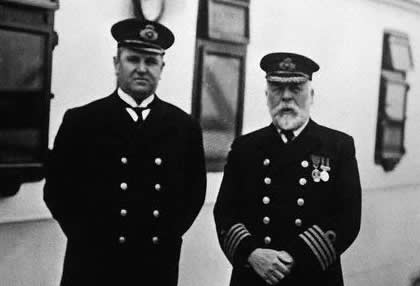 Captain Smith and First Officer Murdoch, both of whom went down with the ship.