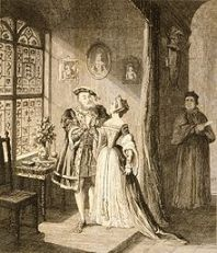 A 19th century image of Henry reconciled with Anne Boleyn