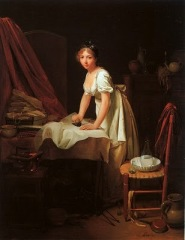 Boilly's 'Woman Ironing' was given to Winslet before shooting. She claimed that it greatly influenced how she played the role of laundress, Madeleine.