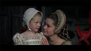 Anne (Genevieve Bujold) with Elizabeth before her arrest.  Anne of the Thousand Days (1969) Most cinematic depictions of Anne show her to be a loving mother.