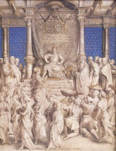Holbein's depiction of Henry as Solomon welcoming the Queen of Sheba (representing the church's submission) was probably an early commission of Anne Boleyn's for her husband.