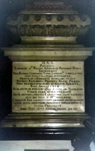 The memorial marking the graves for the remains of the princes, complete with rather damning description of Richard III's hand in their murder.