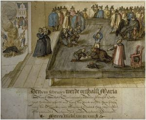 A 17th century Dutch rendition of the execution.