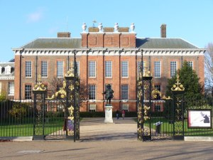 Kensington Palace where Victoria grew up. A shiny gold penny if you can figure out why the Kensington System was so named.