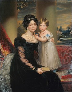Victoria, Duchess of Kent with the child Princess Victoria
