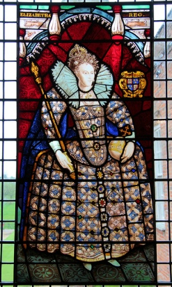 Elizabeth I. While she did not marry, Elizabeth was rumoured to have had numerous lovers and continually indicated that she might marry any one of her foreign suitors to maintain the peace. She remained the 'virgin queen' for all her life declaring herself married to England. Window at Melford Hall