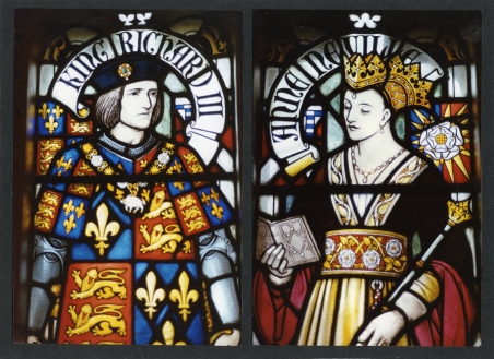 Richard III and Anne Neville Isabel's sister, Anne Neville was also married off as part of her father's schemes to win the throne of England. Though she was married to Henry VI's son Edward of Westminster, she was widowed five months later when her husband was killed in the battle for the throne. It is unsure whether Richard III married her for love or for her vast inheritance but he certainly acted as though it was the former even though he gained the latter. Anne died two years after her husband became king of England. Window at Cardiff Castle