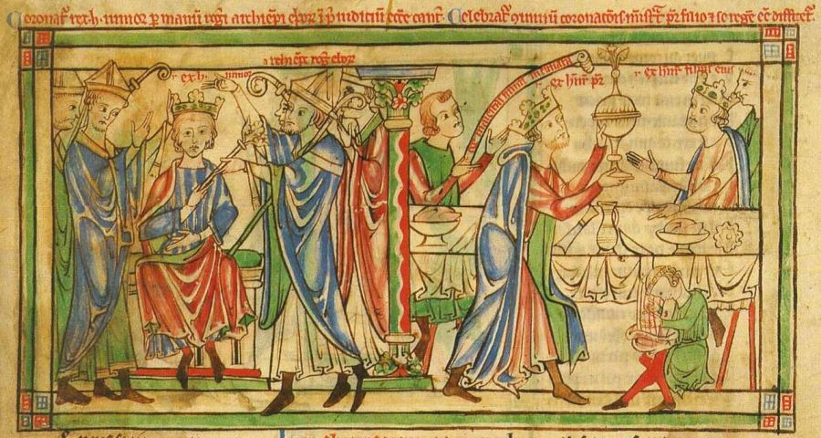 Coronation_of_Henry_the_Young_King_-_Becket_Leaves_(c.1220-1240),_f._3r_-_BL_Loan_MS_88