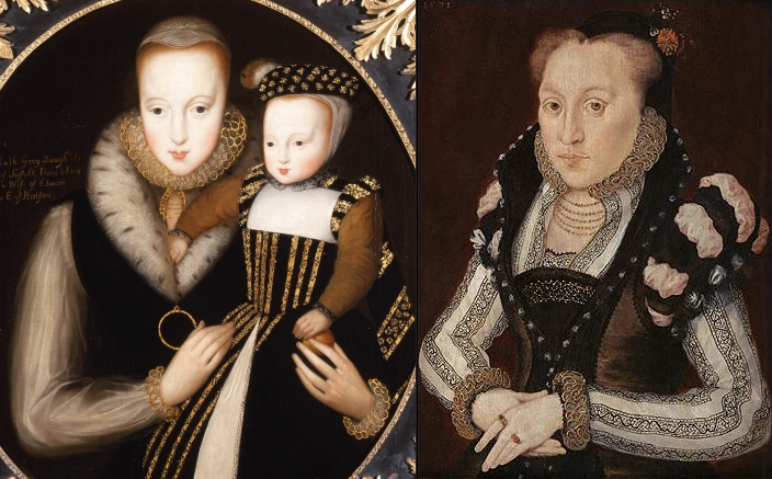Lady Catherine Grey and her son by Edward Seymour and Lady Mary Grey. Not pictured: their sister Jane and her head.