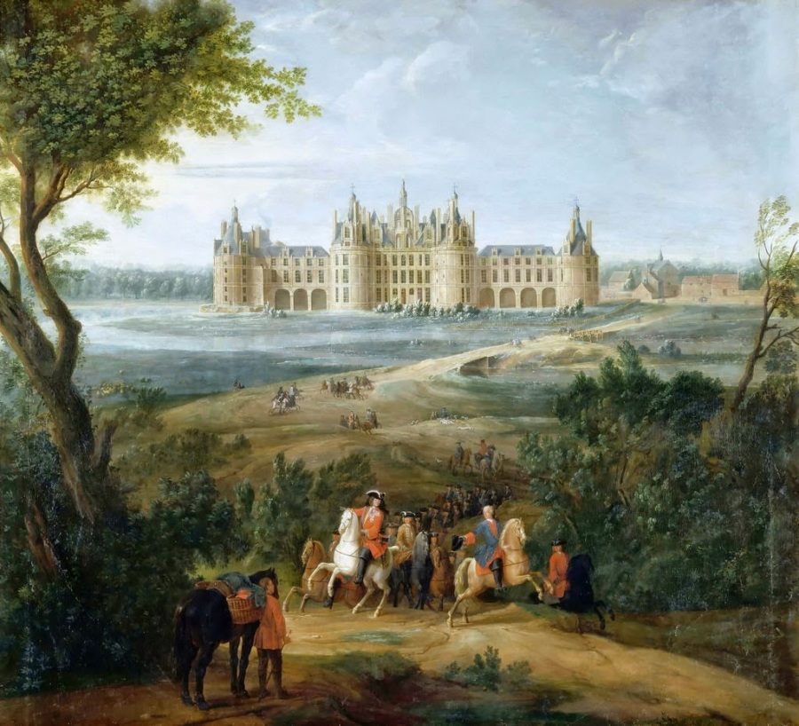 1 Pierre-Denis Martin - View of the Castle of Chambord from the park